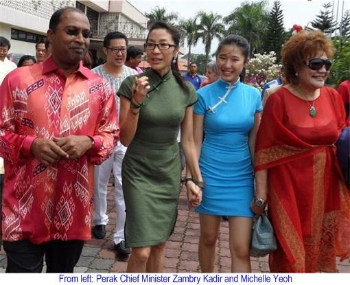 Michelle Yeoh with Zambry Kadir