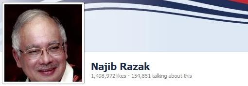 Najib Razak Facebook Likes