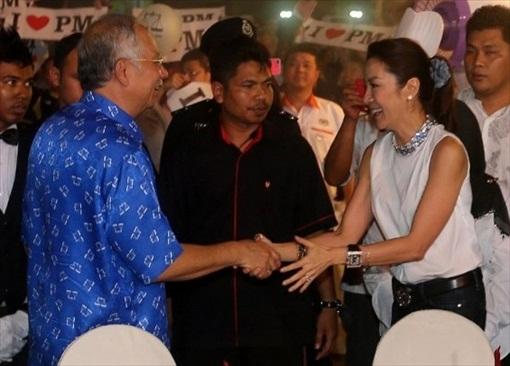 Najib Razak and Michelle Yeoh