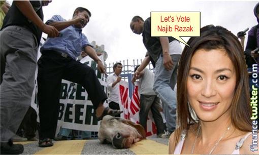 Najib UMNO CowHead - Michelle Yeoh