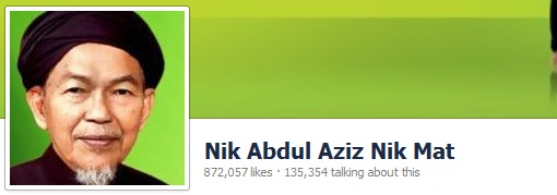 Nik Aziz Facebook Likes