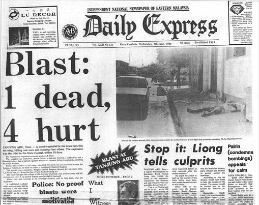 Sabah 1985 Riot - Newpaper News 4