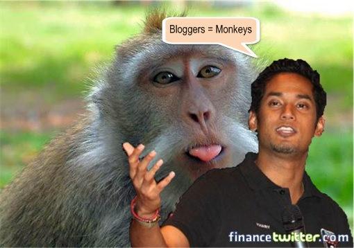 Khairy Jamaluddin Says Bloggers Are Monkeys