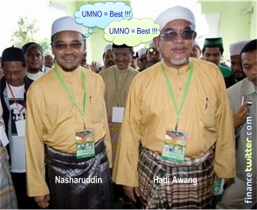 PAS Nasharuddin and Hadi Awang Like UMNO
