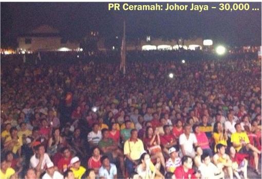 Pakatan Rakyat - Johor Jaya 30000 crowds