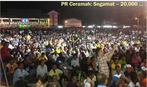 Pakatan Rakyat - Segamat 20000 crowds