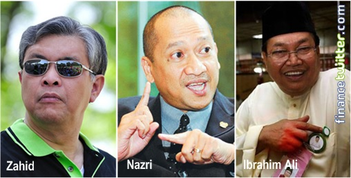 Zahid Equals Nazri and Ibrahim Ali