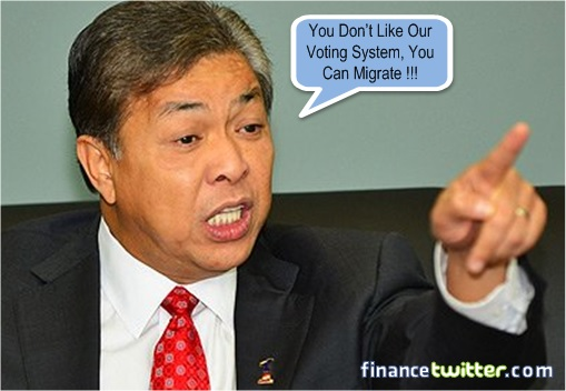 Zahid Hamidi Asked People to Migrate