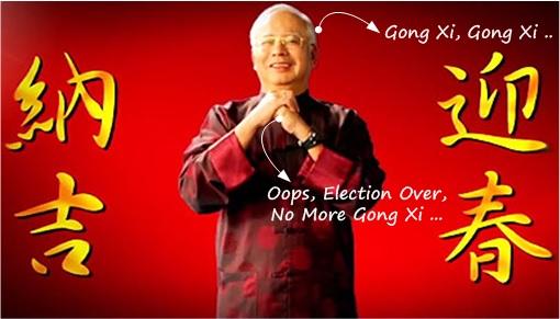 Najib Wishing Gong Xi 2014