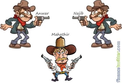 Najib-vs-Anwar-vs-Mahathir-Gunfight