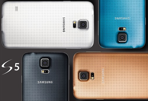 Samsung Galaxy S5 - Gold Blue White Black