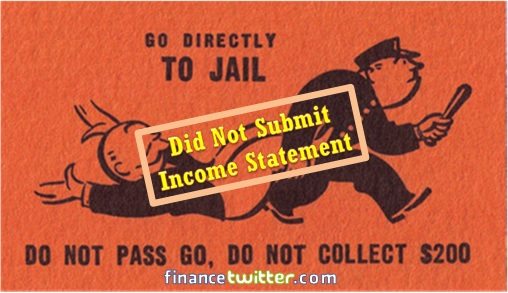 Income-Tax - Did Not Submit Income Statement