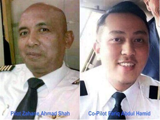 Malaysia MH370 Missing - Pilots Zaharie and Co-Pilot Fariq