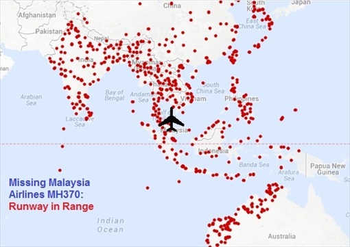 Malaysia MH370 Missing - Runway in Range