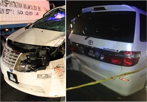 Karpal Singh Accident - Car KS9898