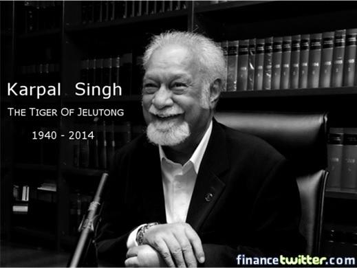 Karpal Singh Dies - Tiger of Jelutong - 1940-2014
