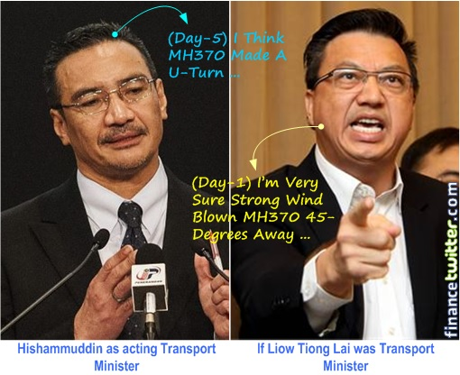 Missing MH370 - Liow Tiong Lai as Transport Minister