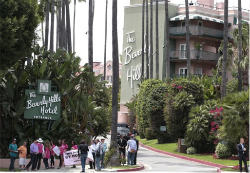 Brunei Shariah Law - Beverly Hills Hotel Protest