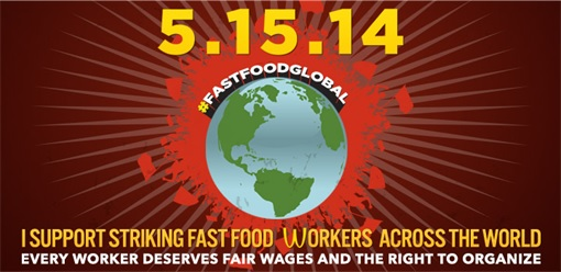 Fast Food Protest Logo 15-May-2014