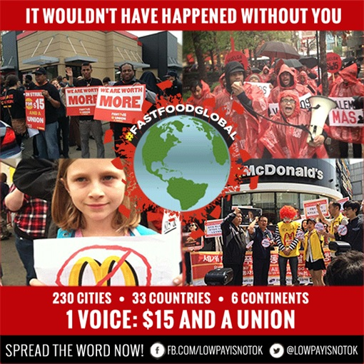 Fast Food Protest WorldWide 15-May-2014