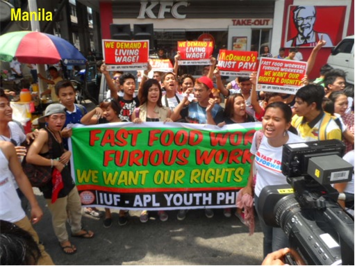 Fast Food Protest WorldWide - Manila