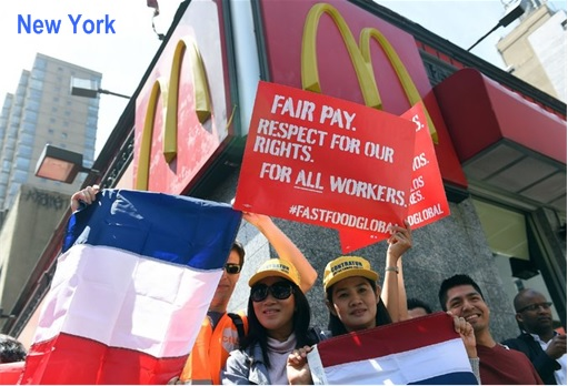 Fast Food Protest WorldWide - New York