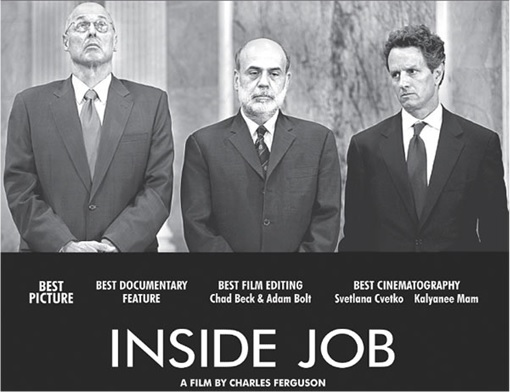 Inside Job - 2010 - Black and White poster