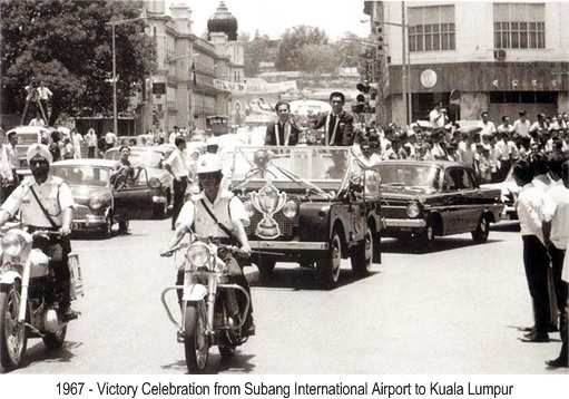 Malaysia 1967 Thomas Cup Victory - Celebration Procession