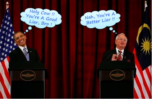 President Obama and PM Najib - Liars