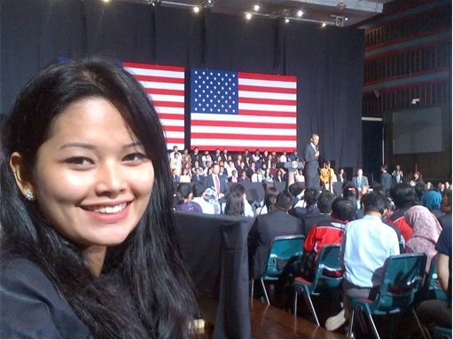 Teluk Intan by-Election - Dyana Sofya Mohd Daud attending President Obama Talk