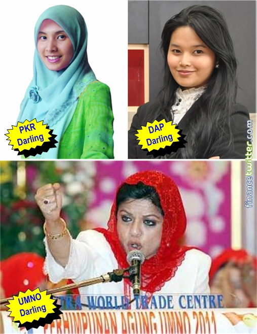 Teluk Intan by-Election - PKR Darling Nurul Izzah and DAP Darling Dyana Sofya and UMNO Darling Shahrizat Jalil