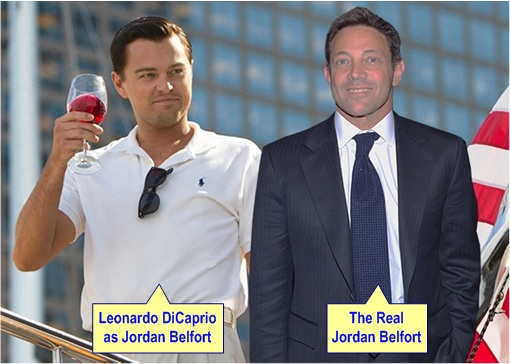 The Wolf of Wall Street - Leonardo DiCaprio and Real Jordan Belfort