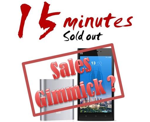 Xiaomi Malaysia FlashSale - 15-minutes Sales Gimmick