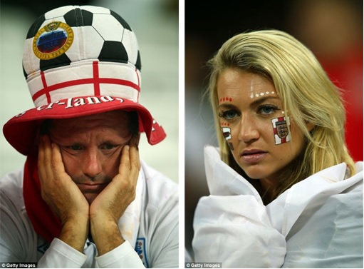 2014 FIFA World Cup - England Lost to Uruguay - Dejected Fans