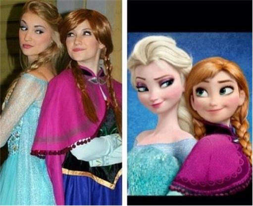Anna Faith Carlson's resemblance to Queen Elsa - Frozen Movie - 3