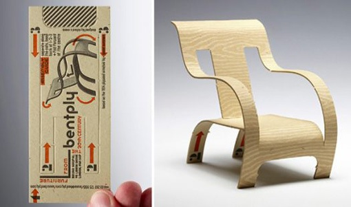 Bentply Armchair Business Card