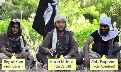 British Muslim Extremists - Reyaad Khan, Nasser Muthana, Abdul Raqip Amin