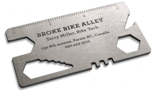 Broke Bike Alley Multi-Tool Business Card 2