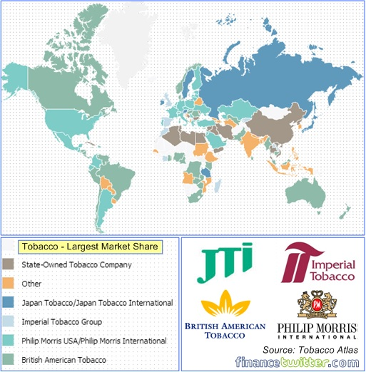 Global Tobacco Market Share - Map