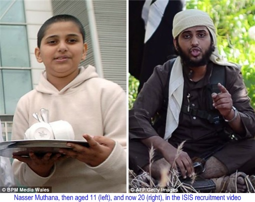 ISIS British Muslim Extremists - Nasser Muthana - young and now