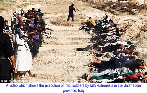 ISIS Terror Group Executing Iraqi Soldiers