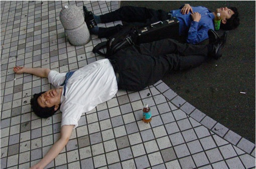 Japanese Culture - Drunken Sleeping in Public - 12