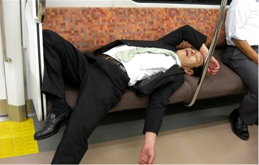 Japanese Culture - Drunken Sleeping in Public - 14