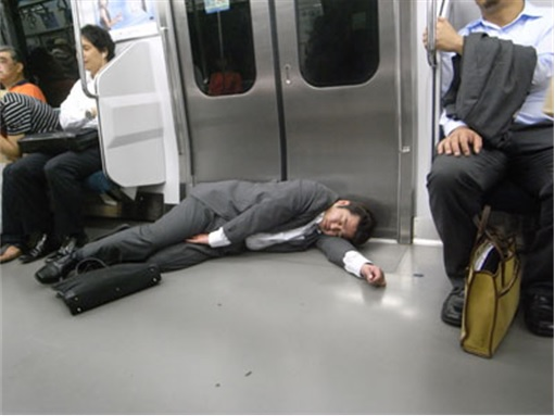 Japanese Culture - Drunken Sleeping in Public - 15