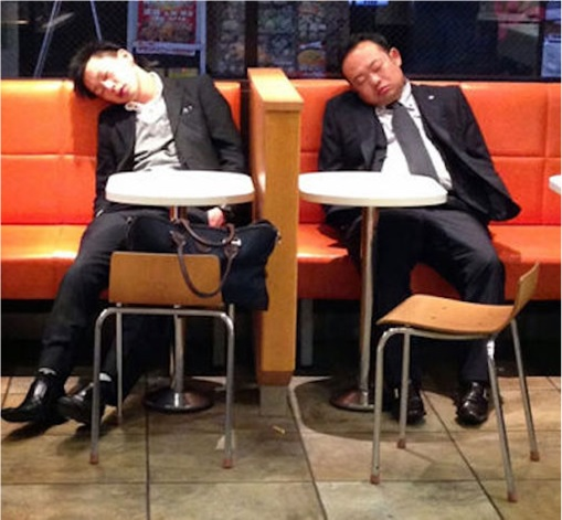 Japanese Culture - Drunken Sleeping in Public - 21