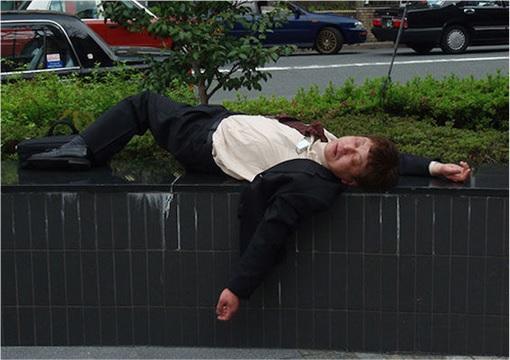 Japanese Culture - Drunken Sleeping in Public - 23