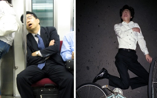 Japanese Culture - Drunken Sleeping in Public - 24