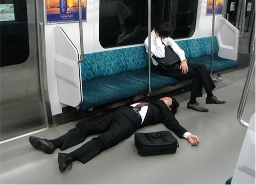 Japanese Culture - Drunken Sleeping in Public - 27