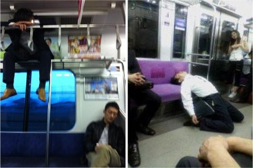 Japanese Culture - Drunken Sleeping in Public - 29