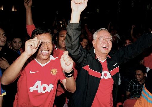 Malaysia Najib Razak Support Manchester United